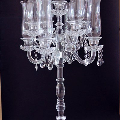 Glass Hurricanes Wedding Candelabra