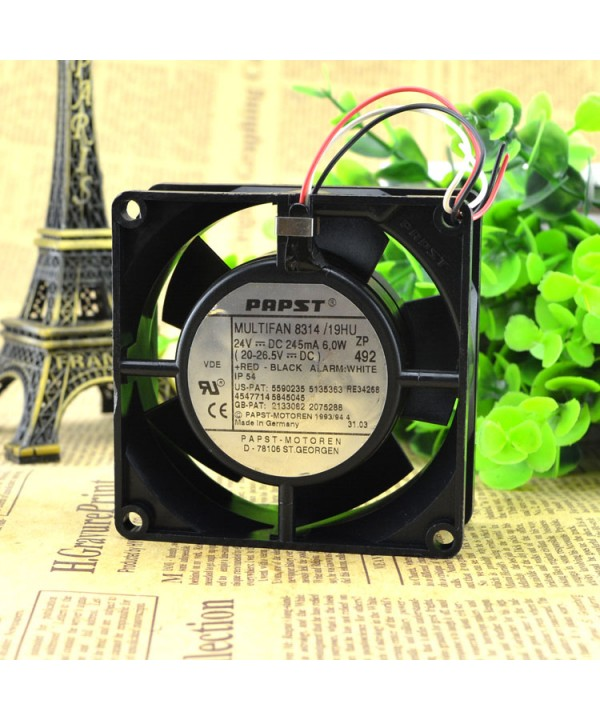 Original Ebmpapst 8314 24V 2.7W 8032 8CM cooling fan