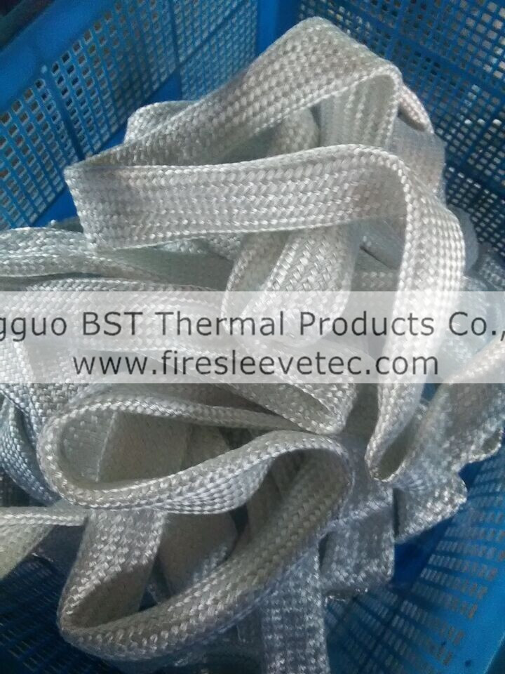 thermosleeve fiberglass braided hose heat protective sleeve