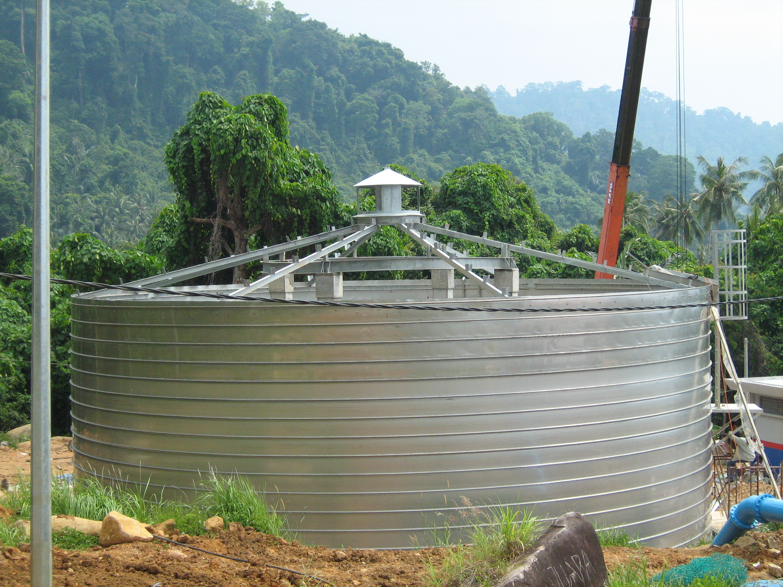 Wastewater Treatment Storage Tank