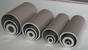 aluminum round extruded tube with silver anodized finish