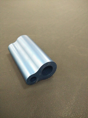 Aluminum alloy extruded hollow section for automobile usage