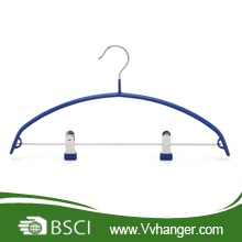 PVC Coated hangers with two clips