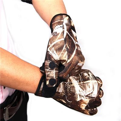 Camouflage Breathable Non-slip Embossed Fishing Gloves
