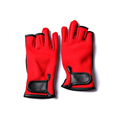 PU Leather 3 Half Fingers Warming Water Proof Fishing Gloves