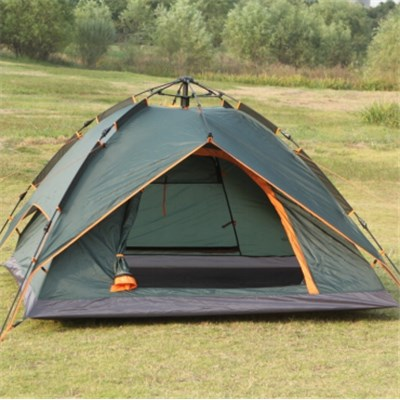 Automatic Pole Water Proof Anti UV Steel Light Outdoor Camping Family Tent With Ventilated Windows