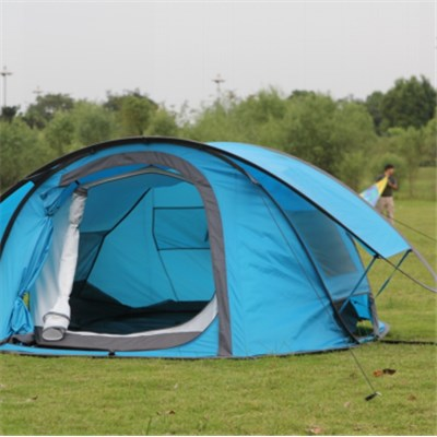 Outdoor Automatic Open Two Layer Rain- Proof Anti UV Ventilated Camping Tent With Glass Fiber Pole For 3-4 People
