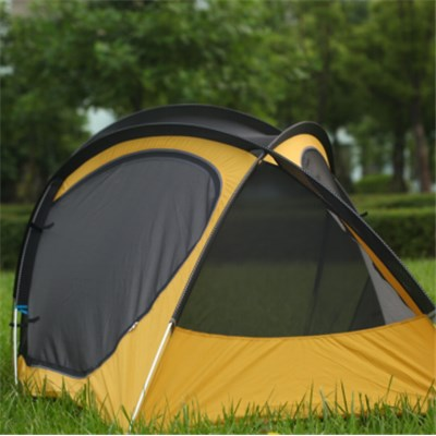 Couple Rain Proof Two Layer Two Doors Insect-proofing Manual Open Polyester Fabric Camping Tent