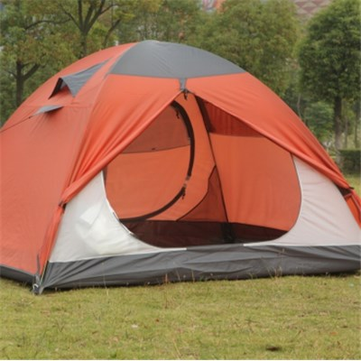 3-4 People Manual Open Rain Proof Polyester Fabric Light Camping Tent