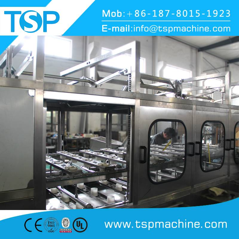 5 gallon water bucket washing filling and capping machine bottling line for sale