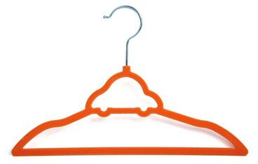 trade assurance supplier indoor fashion orange children velvet plastic flocking hanger