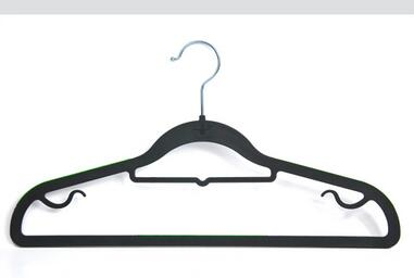 wholesale good quality cheap price black velvet kid plastic clothes hangers for home cleaning