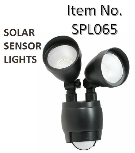 Dual Head Solar Motion Activated Security Light