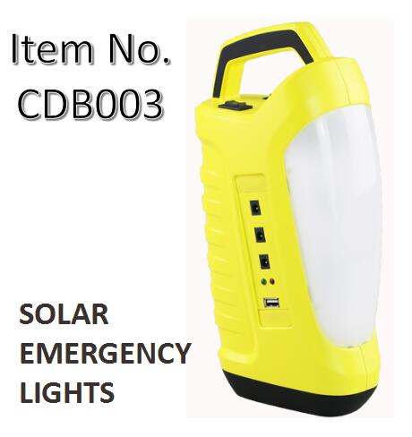 Solar Emergency Light Power Bank with Phone Charing Function