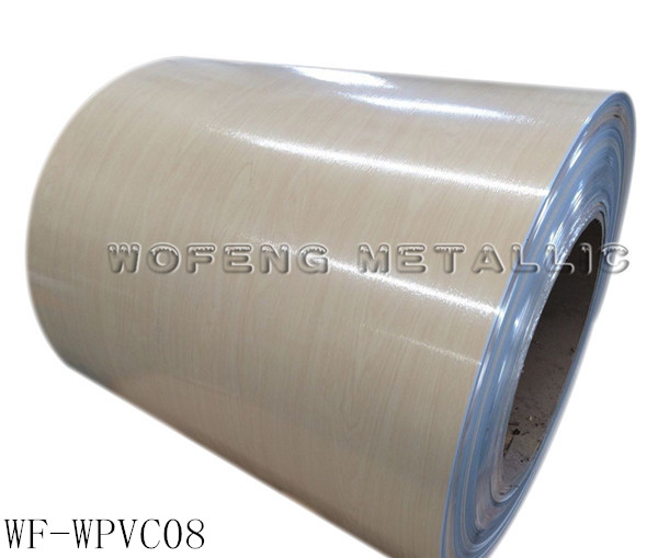 Cold rolled hot dipped PVC / PET / PE color coated steel
