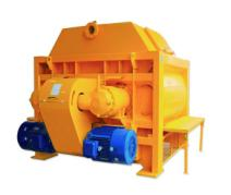 high efficiency electric twin shaft concrete mixer