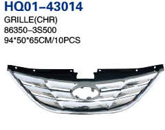Sonata 2011 Automotive Grille, Grille Chrome, Grille Black, Garnish of Grille (86350-3S500, 86350-3S500, 86355-3S100)