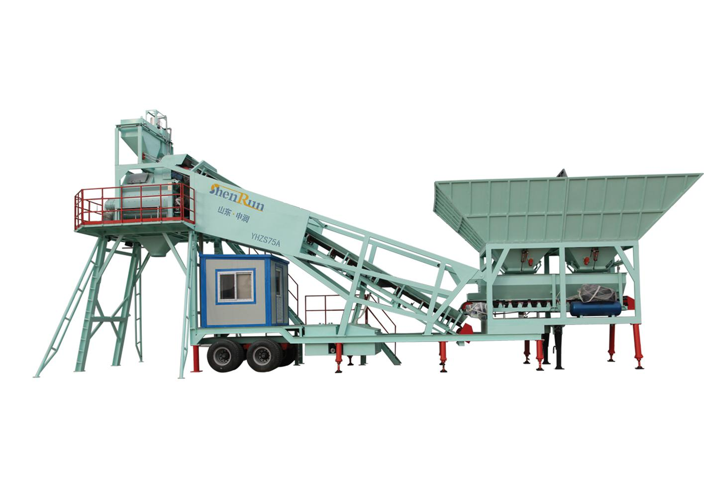 Large Capacity YHZS75 mobile  Concrete Mixing Plant