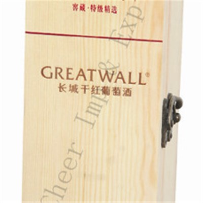 Red Wine Bottle Wooden Box