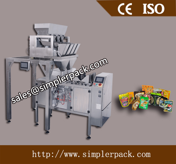 Pre-made Zip Bag Walnut Kernel Packaging Machine with 4 Head Weighs
