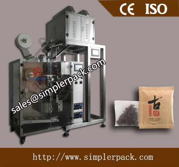 Cinnamon Flat Nylon Tea Bag Packing Machine with Outer Envelope
