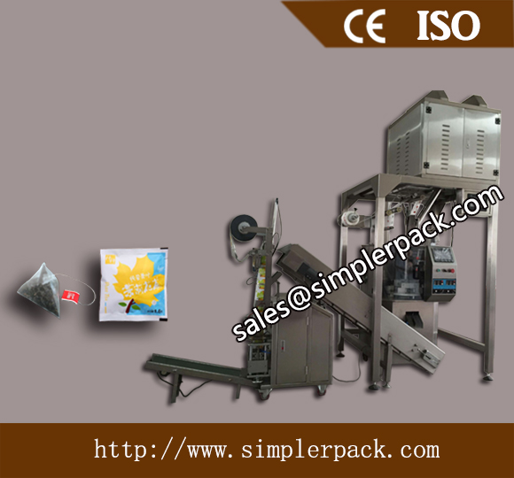 Health Tea Pyramid Bag Packing Machine with Outer Envelope