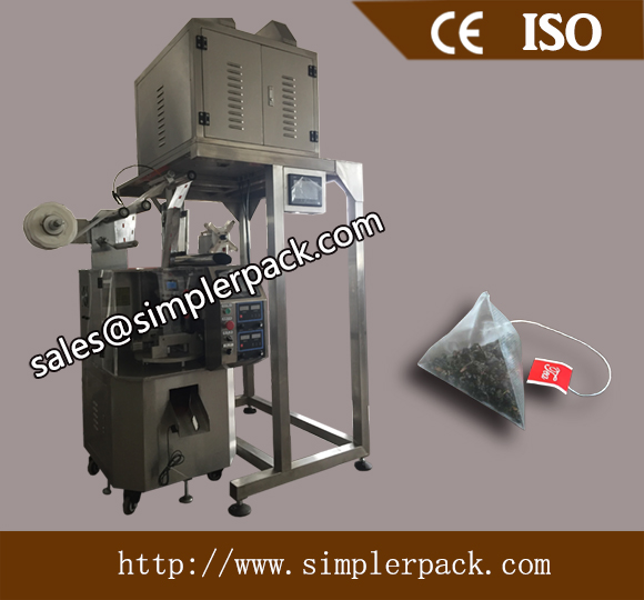 Ceylon Black Tea Pyramid Bag Packing Machine with Thread and Tag