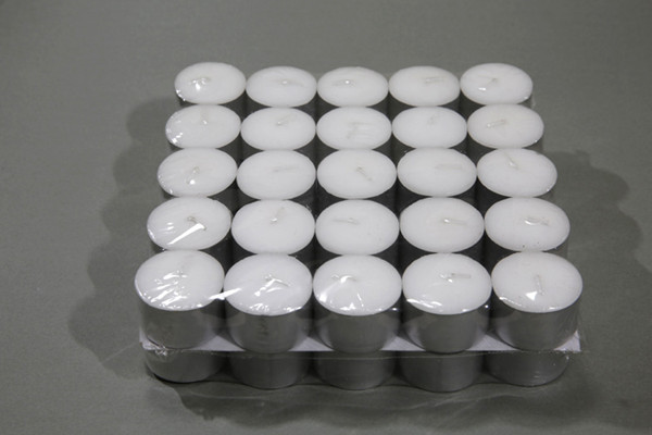 Aluminium Cup White Tealight Candle