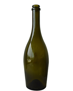 750ML AG Glass Chanpagne Bottle, Sparkling Wine Glass Bottle