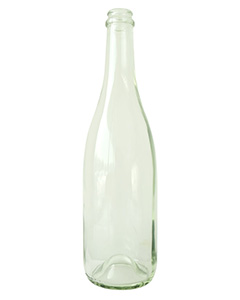 750ML Flint Glass Chanpagne Bottle,Sparkling Wine Glass Bottle