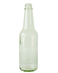 10oz Flint Glass Woozy bottle/GlassVinegar bottle