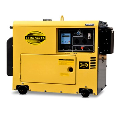 5000w Digital Silent Three Phase Diesel Generators-LSD6700TA3