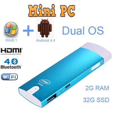 Fanless Intel Windows Quad Core Battery Powered Mini Pc With 4gb Ram