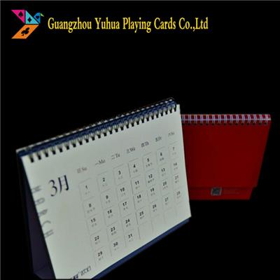 Offset Printing New Design Spiral Binding Paper Table Calendars