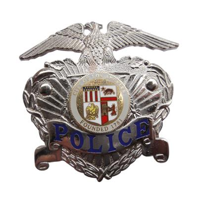 Silver US Eagle Police Badge 3D
