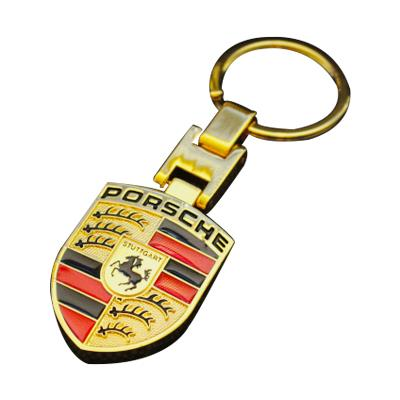 Gold Metal Key Chains Car Logo Keyrings