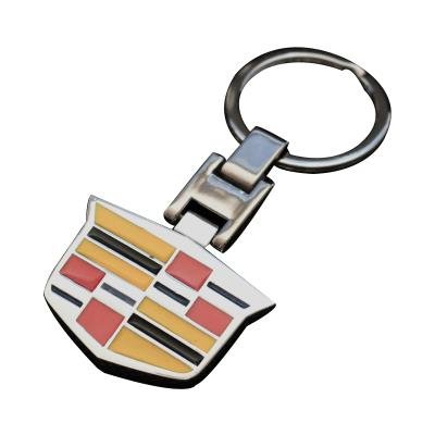 Silver Metal Car Logo Keychains/ Keyrings