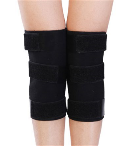 Adjustable Black Knee Support with Strong Velcro Closure