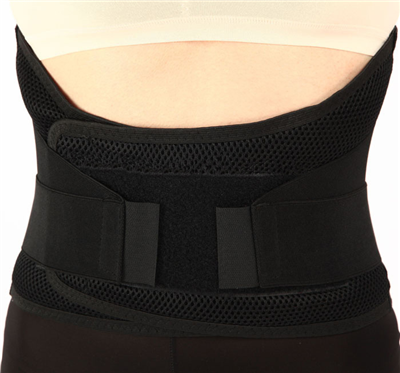 Lumbar Support Brace with Dual Adjustable Straps and Breathable Mesh Panels