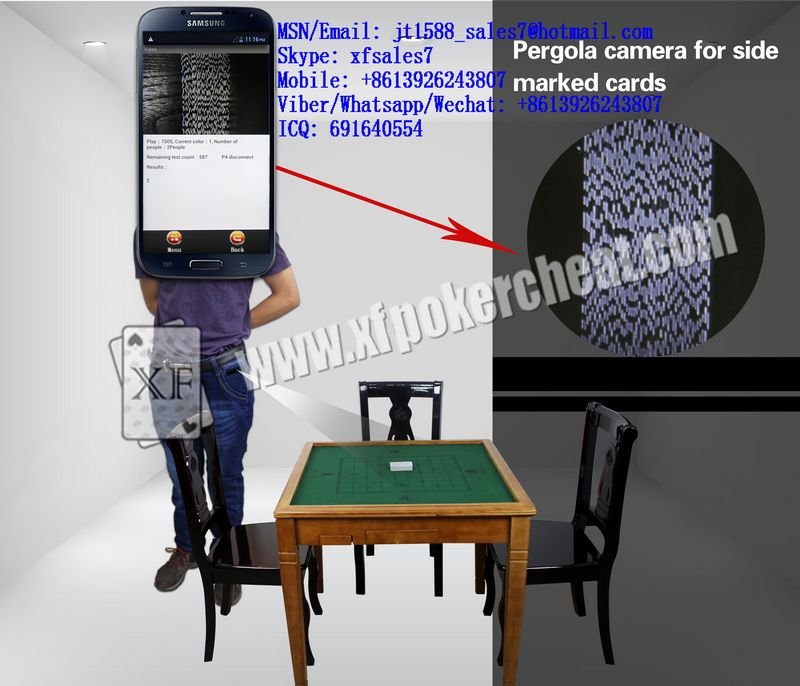 XF Infrared Camera In Black Trousers Label To Scan Invisible Bar-Codes Marked Playing Cards