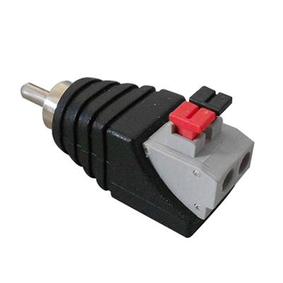 CCTV RCA Male Solderless Connector With Screwless Terminals (RC102)