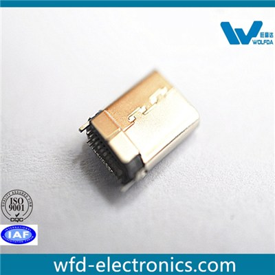 Stamping-shell Type C USB3.1 Male plug (P/N:USB-M0512-D552S)