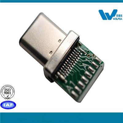 Type C USB Male Plug With IC (P/N:USB-M0512-D55)