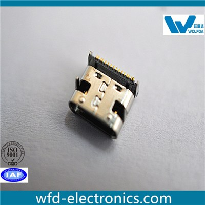 Type C USB Female Single-row SMT (P/N:USB-F07514-D5506)