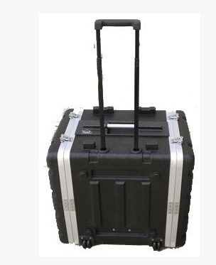 6u rack pilot case with trolley instrument box