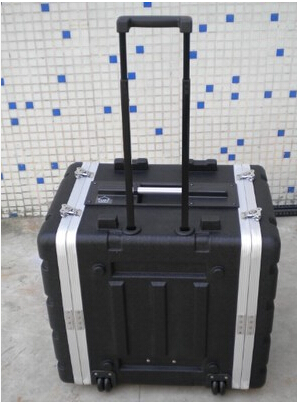10u rack pilot case with trolley instrument box