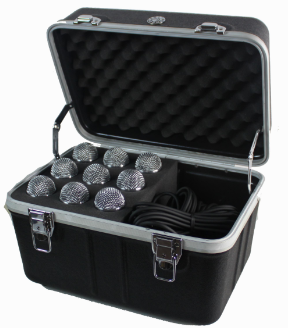 ABS of Microphone Storage Rack Case of 9