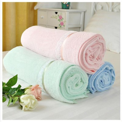 Eco-friendly 100% Bamboo Terry Towel Swaddle Baby Blanket