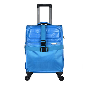 polyester four wheels trolley luggage supplier
