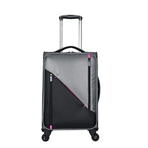 Large Capacity Polyester Trolley Luggage With 4 Wheels Trolley Bag
